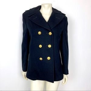 Vintage double breasted wool pea coat military
